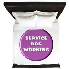 SERVICE DOG WORKING PURPLE King Duvet