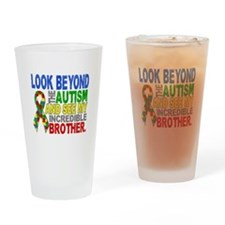 Look Beyond 2 Autism Brother Drinking Glass
