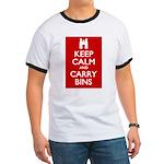 Keep Calm Carry Bins Ringer T