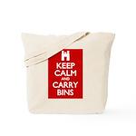 Keep Calm Carry Bins Tote Bag