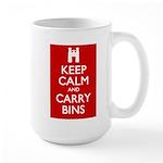 Keep Calm Carry Bins Large Mug