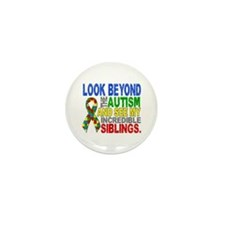 Look Beyond 2 Autism Sibling Mini Button (10 pack)