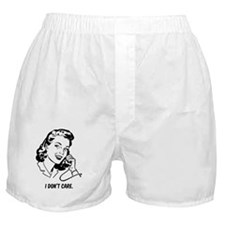 Retro I don't care Boxer Shorts