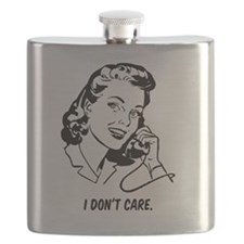 Retro I don't care Flask