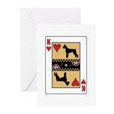 King Schnauzer Greeting Cards (Pk of 10)