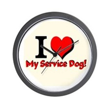 I LOVE MY SERVICE DOG Wall Clock