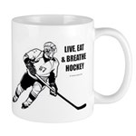 Live, Eat, Breathe Hockey Mugs