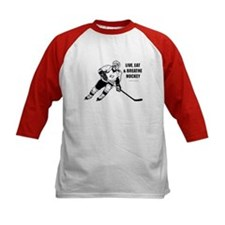Live, Eat, Breathe Hockey Baseball Jersey