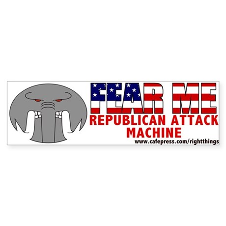 &quot;FEAR ME&quot; Beware the R.A.M. Bumper Sticker
