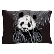Pillow Case Greytone Panda