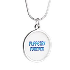 Puppetry Forever Silver Round Necklace