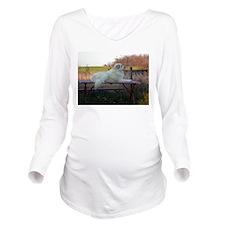 Great Pyrenees Long Sleeve Maternity T-Shirt