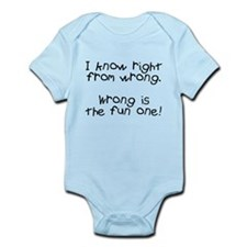 Know right from wrong Infant Bodysuit