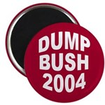 Magenta Dump Bush 2004 Magnet