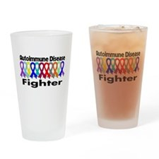Autoimmune Disease Fighter Drinking Glass