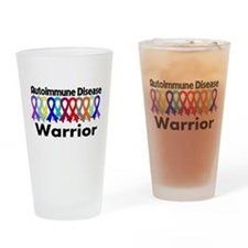 Autoimmune Disease Warrior Drinking Glass