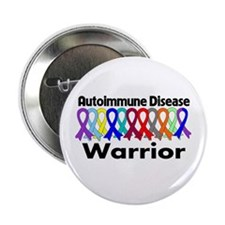 "Autoimmune Disease Warrior 2.25"" Button (10 pack)"