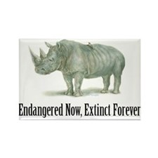 Endangered Rhinoceros Magnets