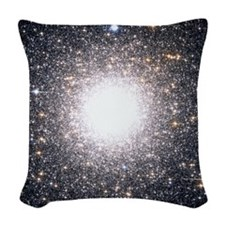 Tight Star Cluster Woven Throw Pillow