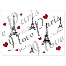 Trendy I LOVE PARIS Invitations