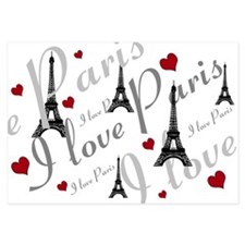 Trendy I LOVE PARIS Invitations