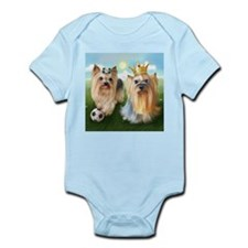 Yorkie Queen and Player Infant Bodysuit