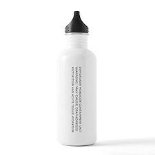 Dihydrogen Monoxide Containment Water Bottle