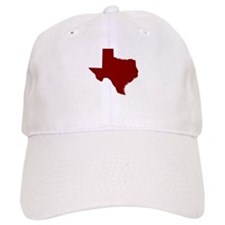 Texas Outline Maroon Baseball Cap