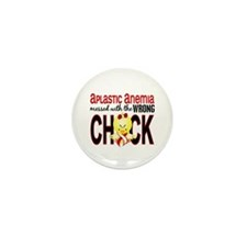 Messed With Wrong Chick 1 A Mini Button (100 pack)