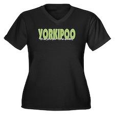 yorkipooadventure_black Plus Size T-Shirt