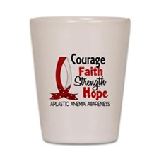 Courage Faith 1 Aplastic Anemia Shot Glass