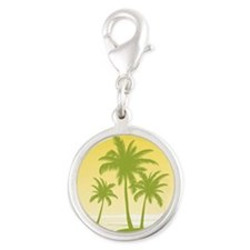 Green Palm Tree Charms