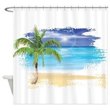 Tropical shower curtains tropical fabric shower curtain liner