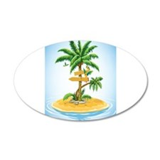 Palm Tree Direction Wall Decal