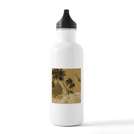 Island in vintage optics Water Bottle