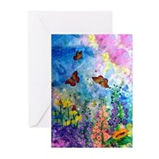 10 Butterfly Garden Greeting Cards (3 Sizes)
