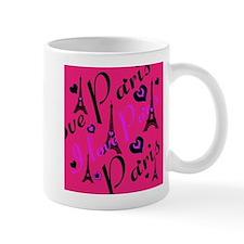 Hot Pink & Black I LOVE PARIS Mug