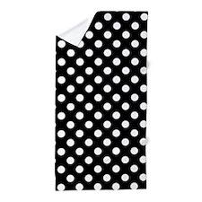 Black and White Polka Dots Beach Towel