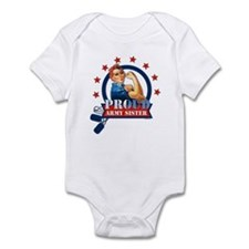 Rosie Proud Army Sister Infant Bodysuit