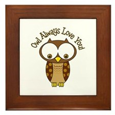 Owl Always Love You! Framed Tile