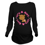 Its A Girl pregnancy Long Sleeve Maternity T-Shirt