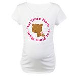 1st Time Mom (girl) Maternity T-Shirt