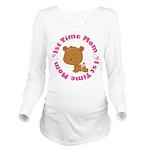 1st Time Mom (girl) Long Sleeve Maternity T-Shirt