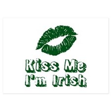 Kiss me Im Irish | Green lips Invitations