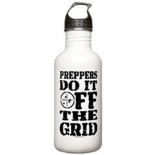 Preppers Do It Off The Grid Water Bottle