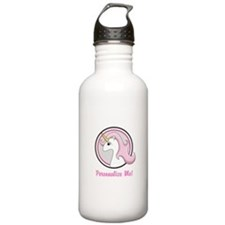 Pink Unicorn Emblem Stainless Water Bottle 1.0l