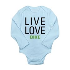 Live Love Bike Long Sleeve Infant Bodysuit