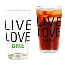 Live Love Bike Drinking Glass