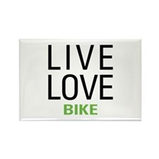 Live Love Bike Rectangle Magnet (10 pack)