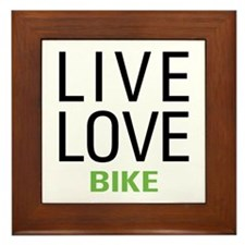 Live Love Bike Framed Tile